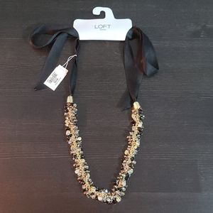 LOFT- Gold Necklace with Crystals